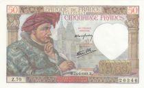 France 50 Francs Jacques Coeur - 24-04-1941 Série Z.70 - Neuf