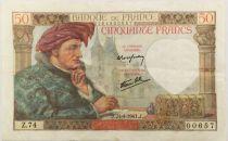 France 50 Francs Jacques Coeur - 24-04-1941 Série Z.74 - TTB