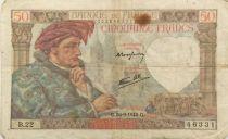 France 50 Francs Jacques Coeur - 26-09-1940 Série B.22 - TB+