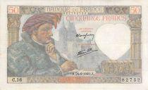 France 50 Francs Jacques Coeur - 26-09-1940 Série C.16 - TB+