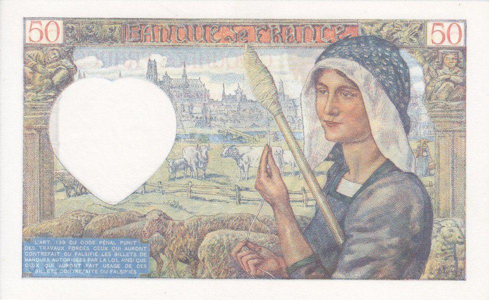 France 50 Francs Jacques Coeur - 26-09-1940 Série E.19