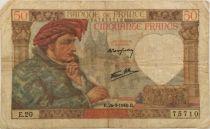France 50 Francs Jacques Coeur - 26-09-1940 Série E.20 - TB