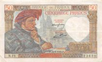 France 50 Francs Jacques Coeur - 26-09-1940 Série R.21 - TTB