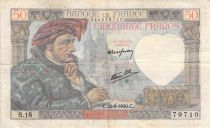France 50 Francs Jacques Coeur - 26-09-1940 Série S.18 - TB