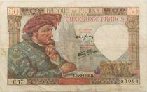 France 50 Francs Jacques Coeur - 26-09-1940 Série U.17 - TTB