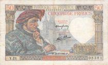 France 50 Francs Jacques Coeur - 26-09-1940 Série Y.21 - TB