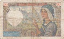 France 50 Francs Jacques Coeur - années 1940 à 1942 - TB +