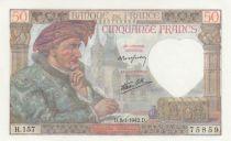 France 50 Francs Jacques Coeur -08-01-1942 - Série H.157- P.Neuf