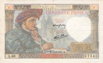 France 50 Francs Jacques Coeur -15-05-1941 Série L.80 - PTTB
