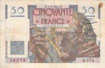 France 50 Francs Le Verrier - 01-02-1951 - Serial D.174 - F