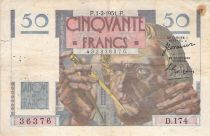 France 50 Francs Le Verrier - 01-02-1951 - Série D.174 - TB