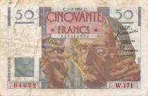 France 50 Francs Le Verrier - 01-02-1951 Serial W.171 - F