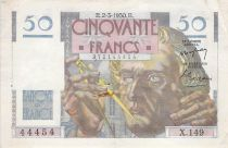 France 50 Francs Le Verrier - 02-03-1950 - Serial X.149 - F to VF