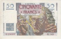 France 50 Francs Le Verrier - 02-03-1950 - Série H.145 - TTB+