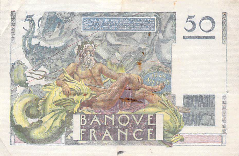 France 50 Francs Le Verrier - 02-03-1950 - Série X.149 - PTTB