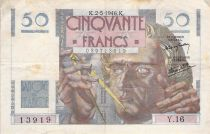 France 50 Francs Le Verrier - 02-05-1946 - Seria Y.16 - F