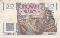 France 50 Francs Le Verrier - 02-05-1946 - Série Y.16 - TB