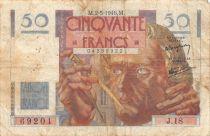 France 50 Francs Le Verrier - 02-05-1946 Serial J.18 - F