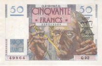 France 50 Francs Le Verrier - 02-10-1947 - Serial Q.92 - XF