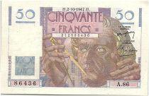 France 50 Francs Le Verrier - 02-10-1947 - Série A.86 - SPL