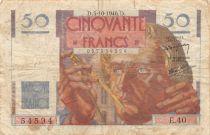 France 50 Francs Le Verrier - 03-10-1946 Serial E.40 - F