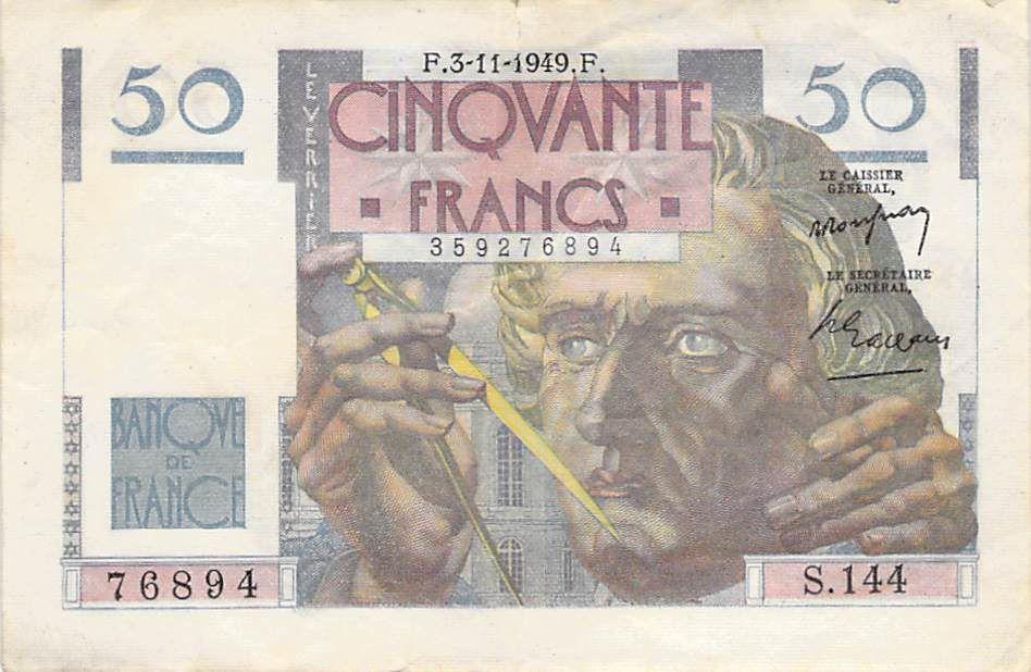 France 50 Francs Le Verrier - 03-11-1949 - Série S.144 - TB
