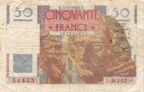 France 50 Francs Le Verrier - 03-11-1949 Serial D.142 - F