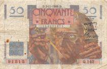 France 50 Francs Le Verrier - 03-11-1949 Serial Q.142 - F