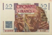 France 50 Francs Le Verrier - 03-11-1949 Série U.142 - PSUP