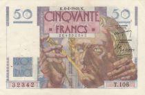 France 50 Francs Le Verrier - 08-04-1848 Série T.106 - TTB+