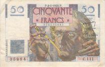 France 50 Francs Le Verrier - 08-04-1948 - Serial C.111 - F+