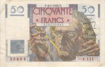 France 50 Francs Le Verrier - 08-04-1948 - Série C.111 - TB+