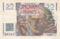 France 50 Francs Le Verrier - 12-06-1947 - Serial S.64 - XF+