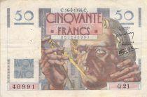 France 50 Francs Le Verrier - 16-05-1946 - Serial Q.21 - F