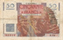 France 50 Francs Le Verrier - 16-05-1946 Série H.24 - TB