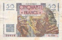 France 50 Francs Le Verrier - 17-02-1949 - Serial E.120 - F