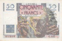France 50 Francs Le Verrier - 19-05-1949 - Serial C.127 - VF