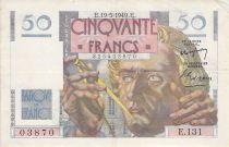 France 50 Francs Le Verrier - 19-05-1949 - Serial E.131 - VF
