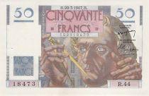 France 50 Francs Le Verrier - 20-03-1947 - Série R.44 - SUP