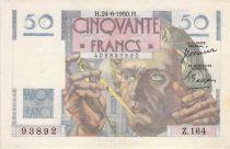 France 50 Francs Le Verrier - 24-08-1950 - Serial Z.164 - VF+
