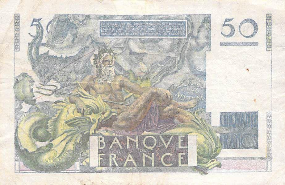 France 50 Francs Le Verrier - 24-08-1950 - Série E.166 - TB