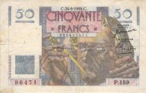 France 50 Francs Le Verrier - 24-08-1950 - Série P.159 - TB
