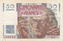 France 50 Francs Le Verrier - 28-03-1946 Série Q.4 - TTB