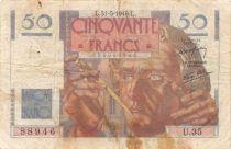 France 50 Francs Le Verrier - 31-05-1946 Serial U.35 - F