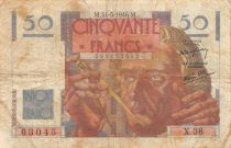 France 50 Francs Le Verrier - 31-05-1946 Série X.36 - TB