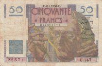 France 50 Francs Leverrier - 02-03-1950 - Série U.147 - TB