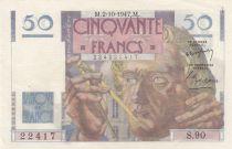 France 50 Francs Leverrier - 02-10-1947 - Serial S.90