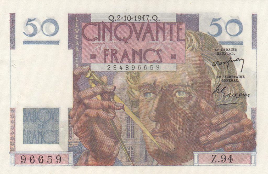 France 50 Francs Leverrier - 02-10-1947 - Série Z.94