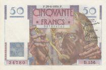 France 50 Francs Leverrier - 29-06-1950 - Série D.156