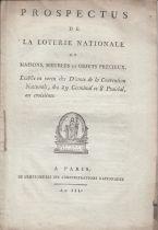 France 50 Francs Loterie de la Convention- 29 Germinal An 3 (1795) et Prospectus